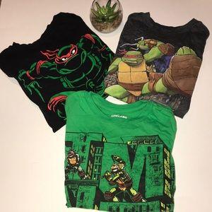 (3) Boys size 5/XS ninja turtle tee shirts